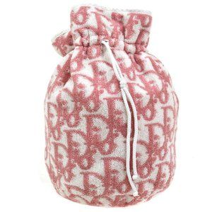Christian Dior Trotter Drawstring Pouch Purse Pink
